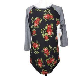 LuLaRoe Tops - Lularoe Black Floral Randy New With Tags